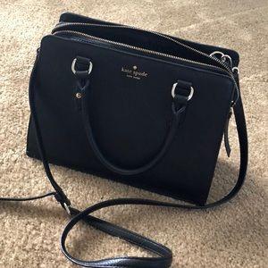 Kate Spade black handbag satchel crossbody leather